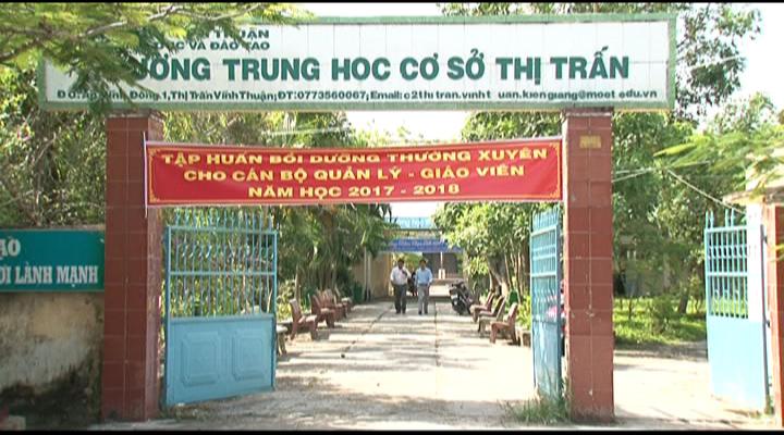 Huyện Vĩnh Thuận chuẩn bị năm học mới