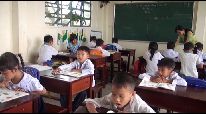 Kiên Giang 3 trình độ trong một lớp học