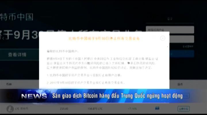 Sàn giao dịch Bitcoin ở Trung Quốc ngừng giao dịch