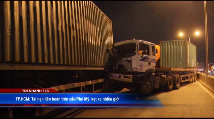 Tai nạn liên hoàn trên cầu Phú Mỹ