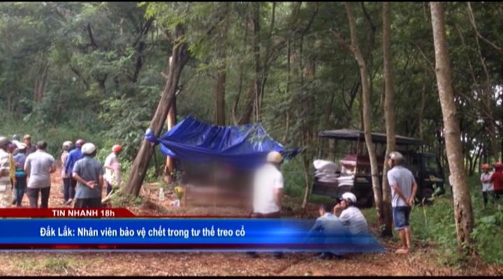 Bảo vệ UBND huyện chết trong tư thế treo cổ