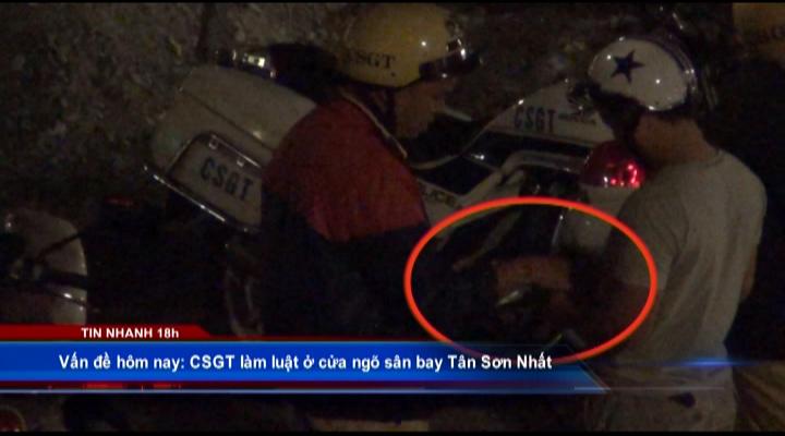 CSGT làm luật ở cửa ngõ sân bay Tân Sơn Nhất