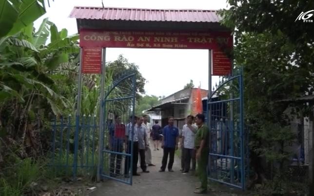 Mô hình cổng rào an ninh trật tự ở nông thôn