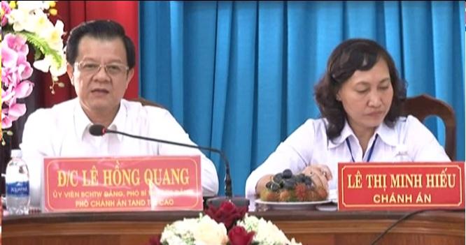 Tòa án nhân dân tối cao làm việc tại Kiên Giang