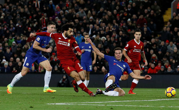 Chelsea cầm chân Liverpool tại Anfield