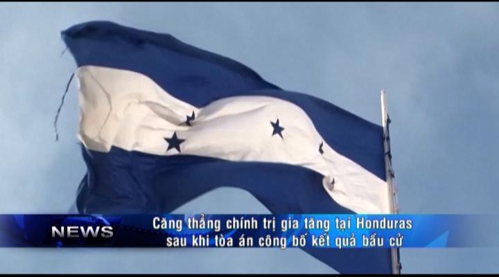 Căng thẳng chính trị gia tăng tại Honduras
