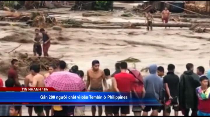 Gần 200 người chết vì bão Tembin ở Philippines