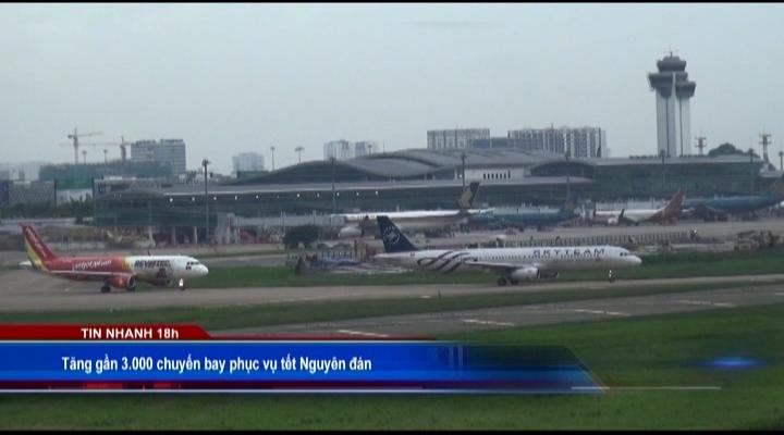 Tăng gần 3.000 chuyến bay phục vụ tết Nguyên đán