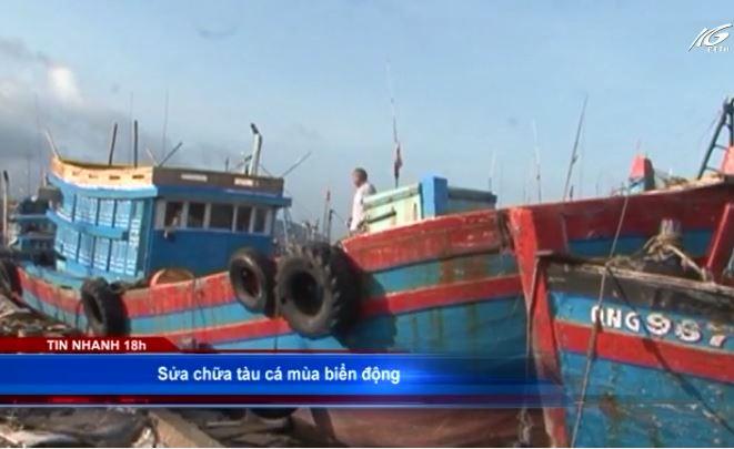 Sửa chữa tàu cá mùa biển động