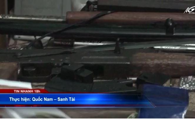 Phát hiện súng AK trong nhà đối tượng buôn ma túy