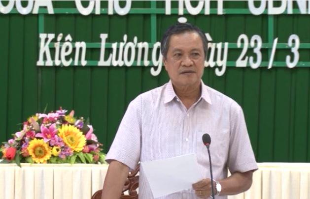 Chủ tịch UBND tỉnh làm việc tại Hòn Đất, Kiên Lương