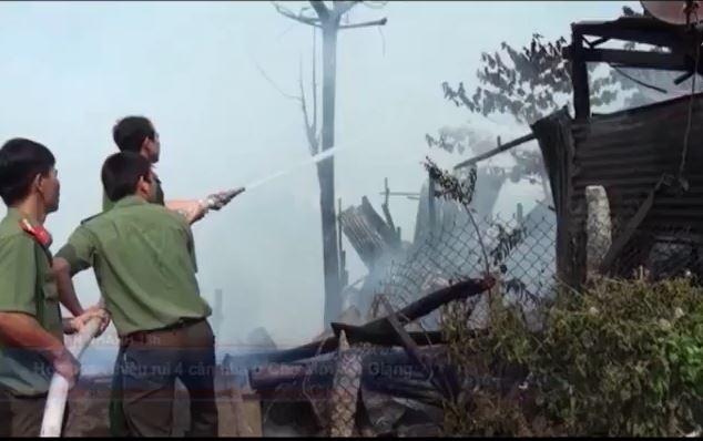 Hỏa hoạn thiêu rụi 4 căn nhà ở Chợ Mới, An Giang