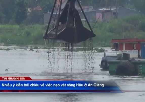 Nhiều ý kiến về việc nạo vét sông Hậu ở An Giang
