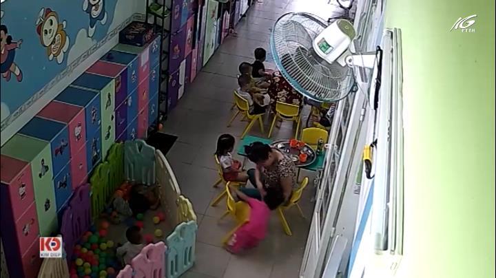 Đình chỉ hoạt động lớp mẫu giáo có bảo mẫu tát trẻ