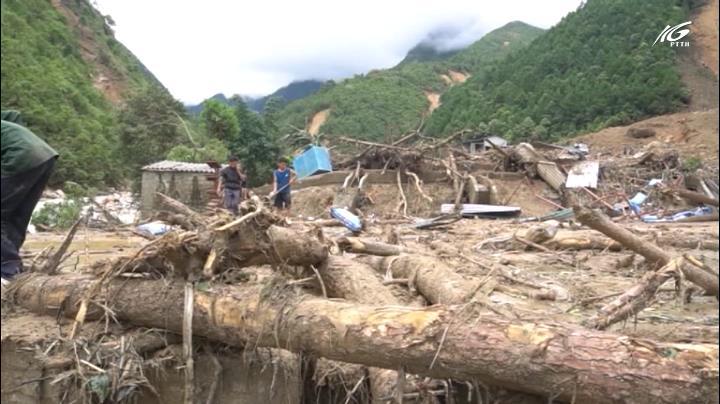 Vùng núi Lai Châu tan hoang sau lũ dữ