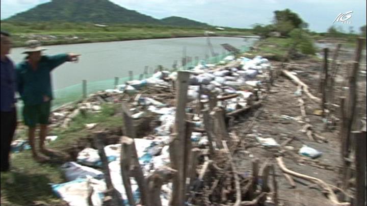 Sạt lở bờ biển nghiêm trọng tại xã Thổ Sơn, Hòn Đất