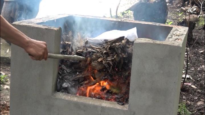 Hiệu quả mô hình lò đốt rác hộ gia đình