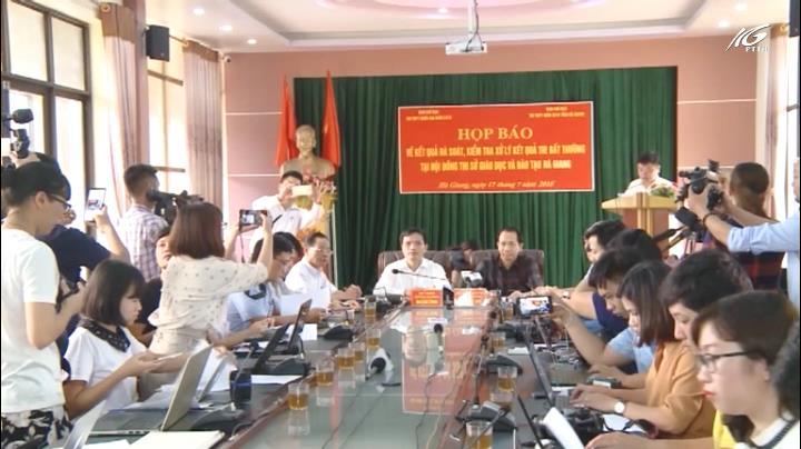 Khởi tố hình sự gian lận điểm thi tại Hà Giang