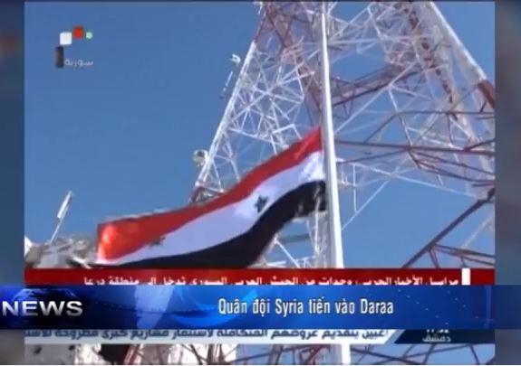 Quân đội Syria tiến vào Daraa