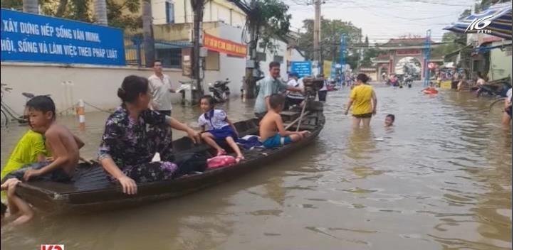 Triều cường gây ngập sâu, kéo dài ở Nam Bộ