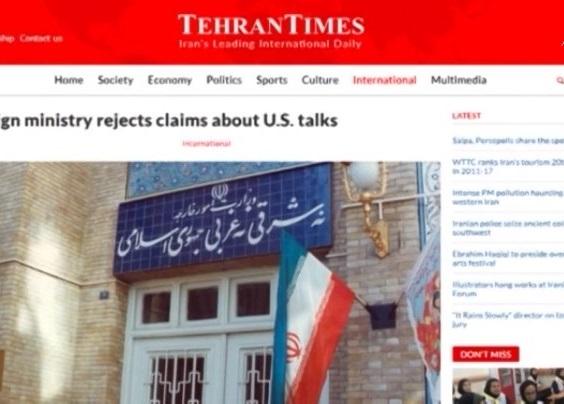 Iran phủ nhận đang đàm phán với Mỹ
