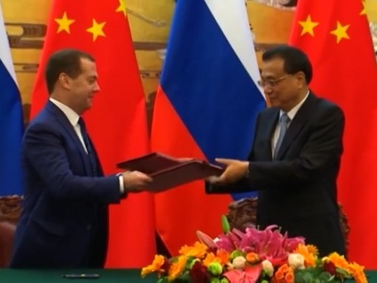 Nga - Trung nhất quán về thương mại quốc tế