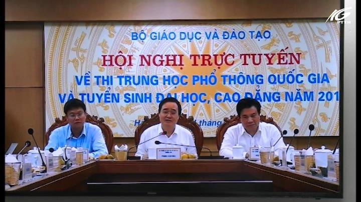Hội nghị trực tuyến về công tác thi THPT quốc gia 2019