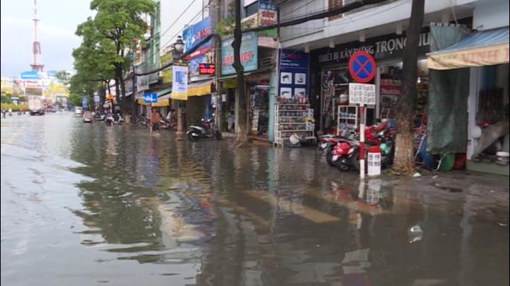 Tp. Rạch Giá ngập nước sau mưa
