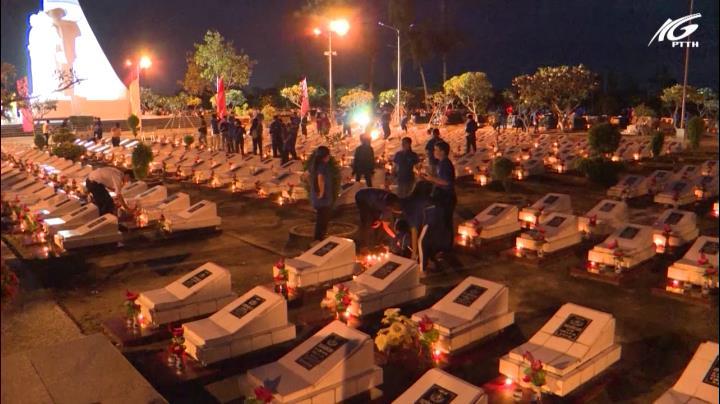Lễ thắp nến  tri ân các anh hùng liệt sĩ
