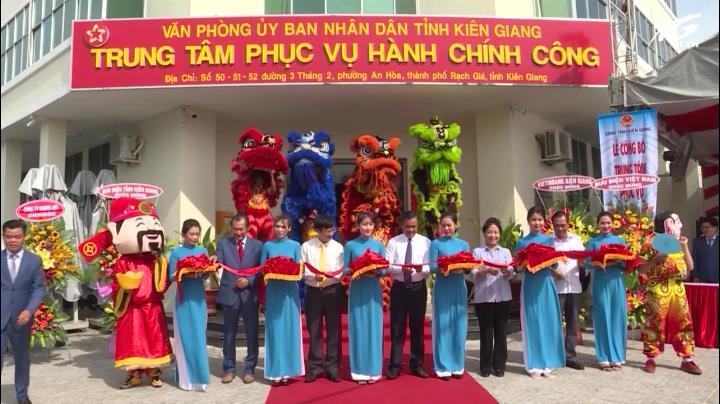 Lễ công bố Trung tâm phục vụ hành chính công tỉnh Kiên Giang