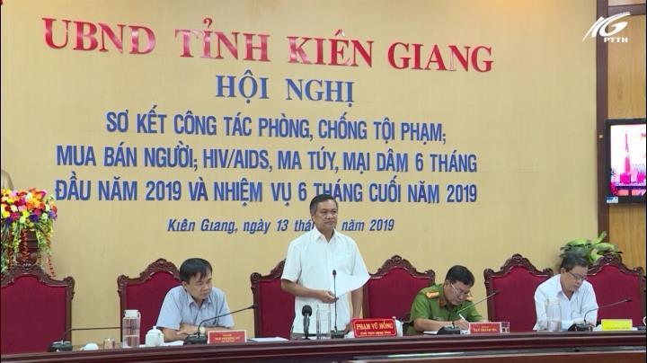 Hội nghị sơ kết công tác phòng chống tội phạm 6 tháng đầu năm