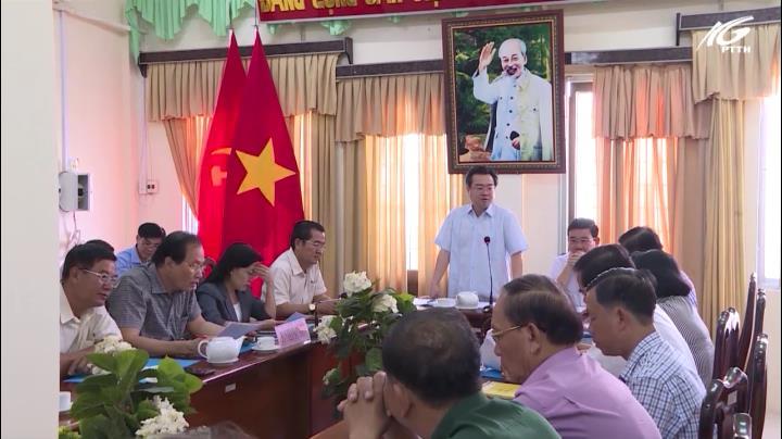 Bí thư Nguyễn Thanh Nghị làm việc với Thành Ủy TP. Rạch Giá