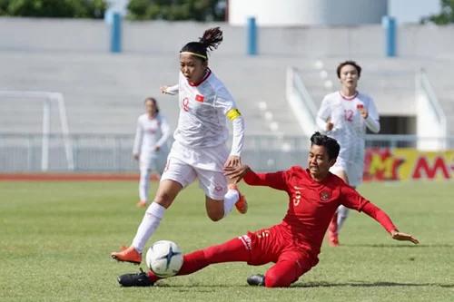 Việt Nam tranh đầu bảng với Myanmar ở giải nữ Đông Nam Á