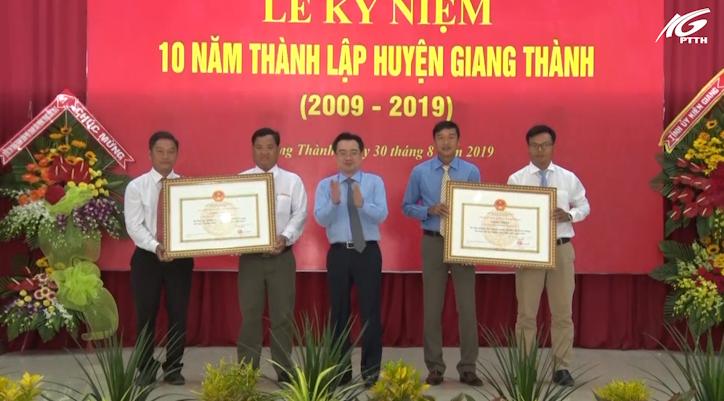 Giang Thành kỷ niệm 10 năm thành lập huyện