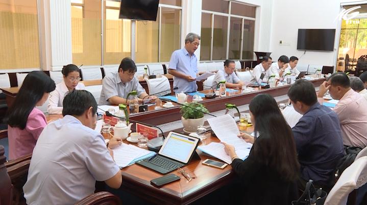 Đoàn giám sát ban pháp chế HĐND tỉnh làm việc với UBND tỉnh