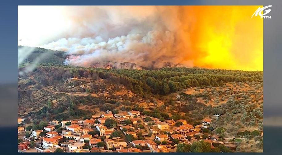 Hy Lạp chống chọi với cháy rừng gần thủ đô Athens