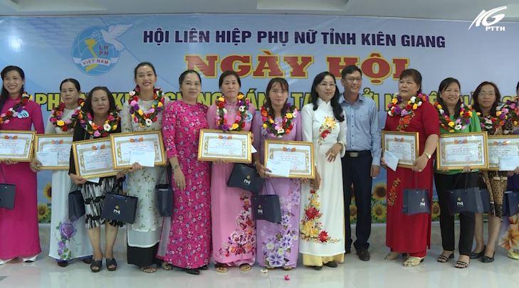 Hội Liên hiệp phụ nữ tỉnh Kiên Giang biểu dương phụ nữ sáng tạo khởi nghiệp