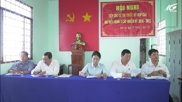 Bà Đặng Tuyết Em tiếp xúc cử tri huyện Châu Thành