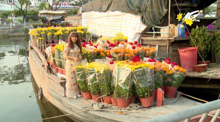 Thị trường hoa Tết đa dạng