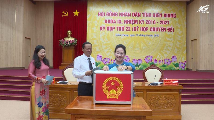 Kỳ họp thứ 22, HĐND tỉnh thực hiện quy trình công tác cán bộ thuộc thẩm quyền HĐND tỉnh