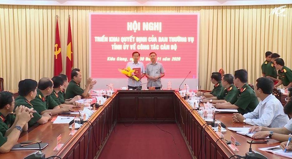 Công bố Quyết định chỉ định Bí thư Đảng ủy Quân sự tỉnh