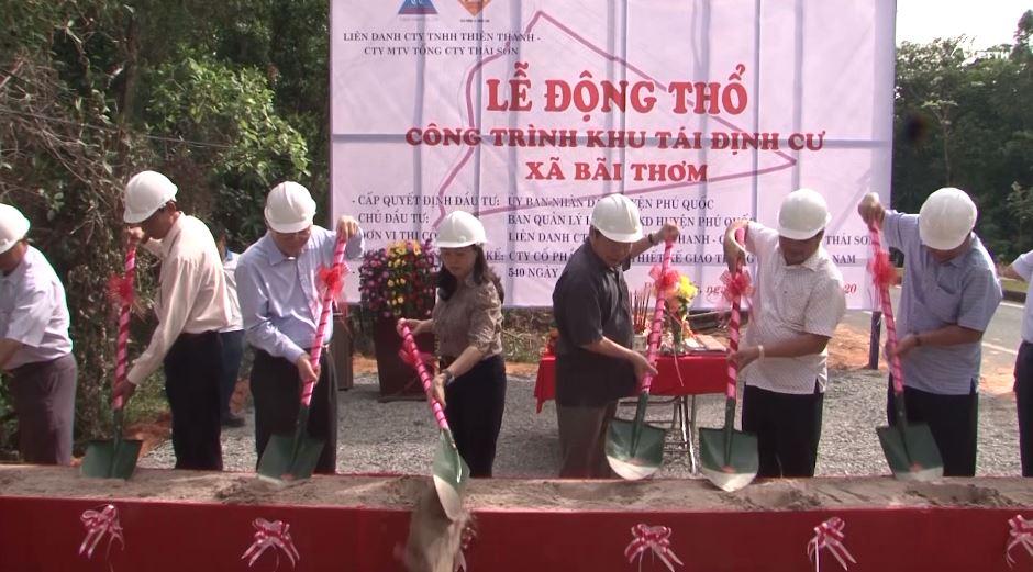 Huyện Phú Quốc: Động thổ công trình khu tái định cư xã Bãi Thơm