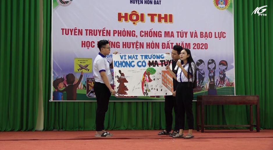 Huyện Hòn Đất tổ chức hội thi tuyên truyền phòng, chống ma túy và bạo lực học đường