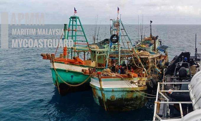 Malaysia bắt hai tàu cá Việt Nam