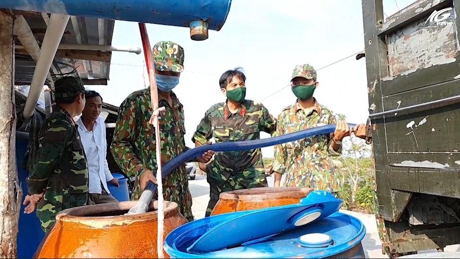 Huyện Giang Thành: Cấp nước ngọt cho nhân dân vùng hạn mặn
